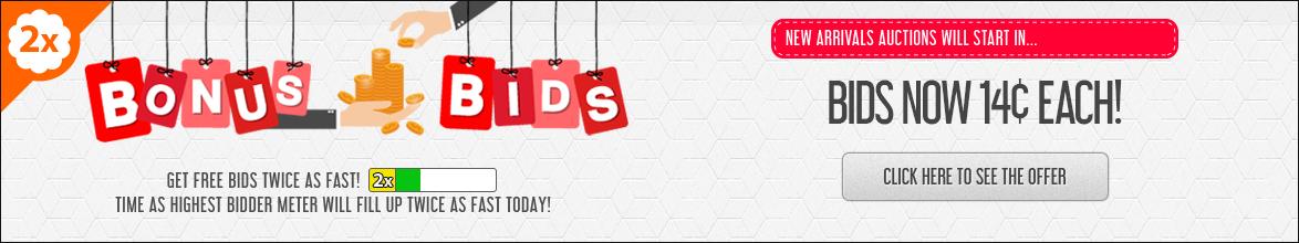 Bonus Bids: Buy bids for only 14 cents each!