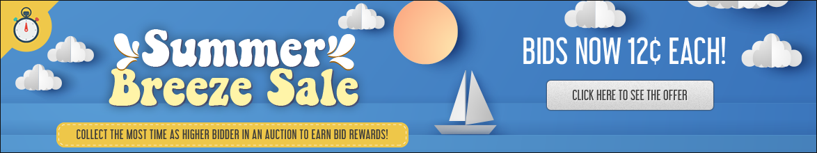 Summer Breeze Sale: Buy bids for only 12 cents each!
