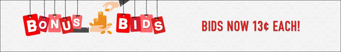 Bonus Bids!: Bids now only 13 cents each!