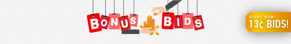 Bonus Bids: Bids now only 13 cents each!