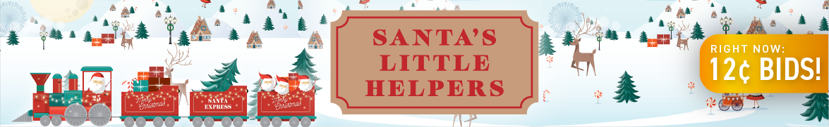 Santa's Little Helpers: Bids now only 12 cents each!