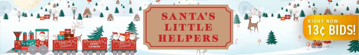 Santa's Little Helpers: Bids now only 13 cents each!