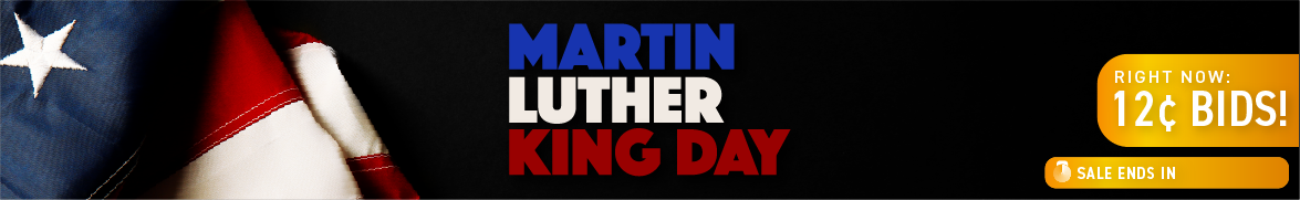 Martin Luther King Jr. Day : Bids now only 12 cents each!