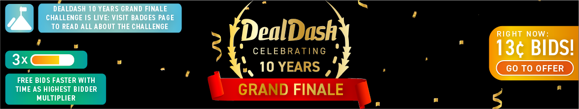 DD 10 grand finale: Buy bids for only 13 cents each!
