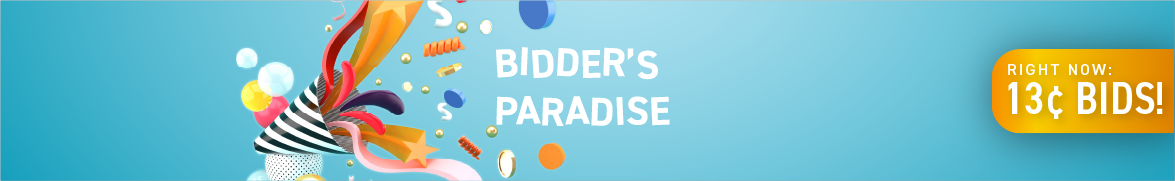 Bidder's Paradise: Bids now only 13 cents each!