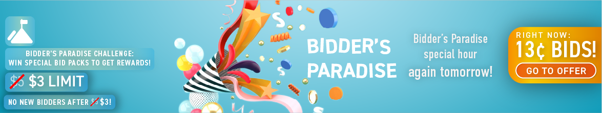 Bidder's Paradise: Buy bids for only 13 cents each!
