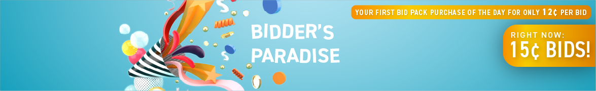 Bidder's Paradise: Bids now only 15 cents each!