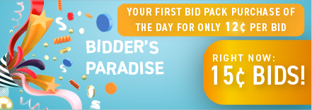 Bidder's Paradise: Buy bids for only 15 cents each!