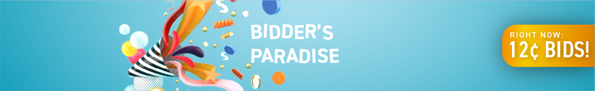 Bidder's Paradise: Bids now only 12 cents each!