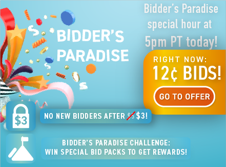 Bidder's Paradise: Buy bids for only 12 cents each!