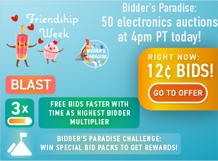 Friendship week: Buy bids for only 12 cents each!