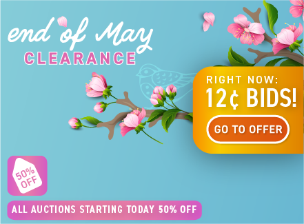 End of May clearance: Buy bids for only 12 cents each!