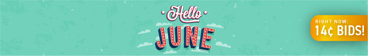 Hello June: Bids now only 14 cents each!