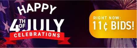Happy 4th of July!: Buy bids for only 11 cents each!