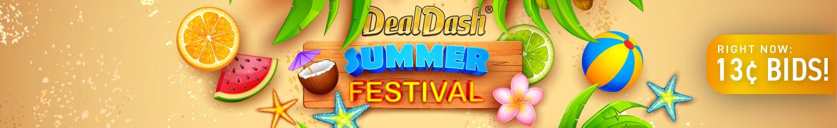 DealDash Summer festival: Bids now only 13 cents each!