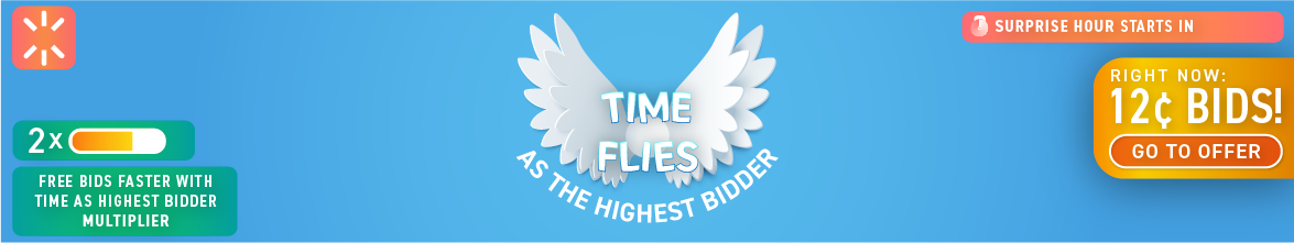 Time Flies as the Highest Bidder: Buy bids for only 12 cents each!