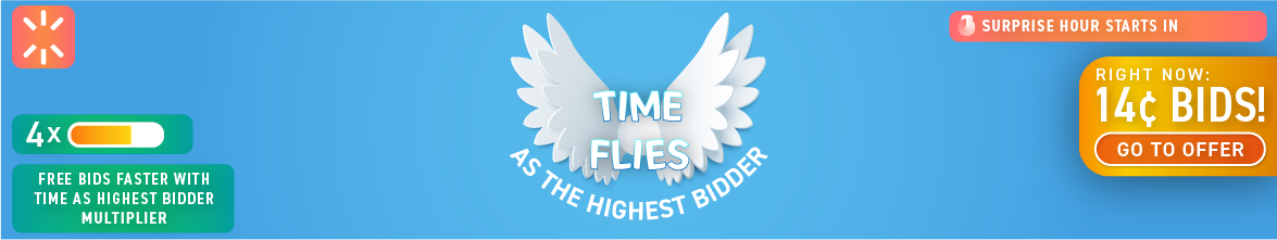 Time Flies as the Highest Bidder: Buy bids for only 14 cents each!