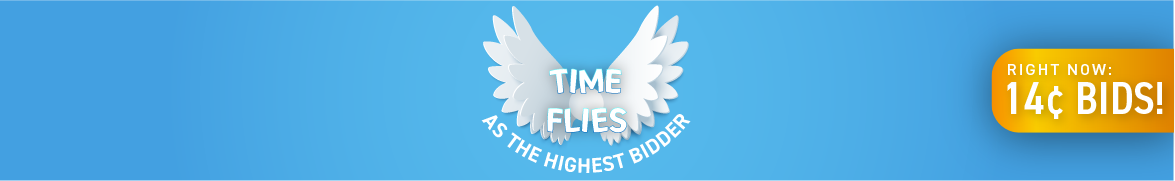 Time Flies as the Highest Bidder: Bids now only 14 cents each!