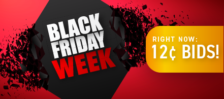 Black Friday Weekend: Buy bids for only 12 cents each!