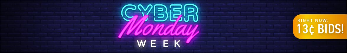 Cyber Monday Week: Bids now only 13 cents each!