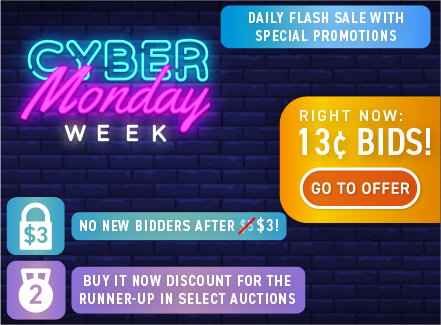 Cyber Monday Week: Buy bids for only 13 cents each!