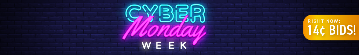 Cyber Monday Week: Bids now only 14 cents each!