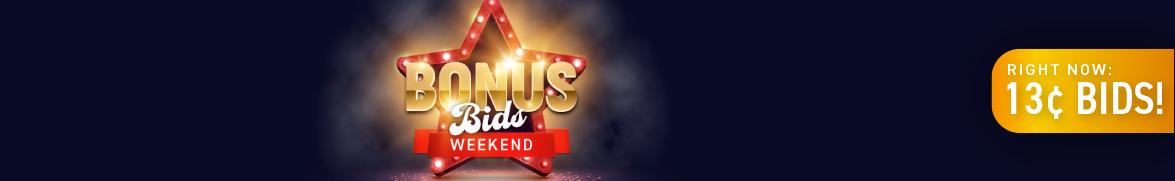Bonus Bids Weekend: Bids now only 13 cents each!