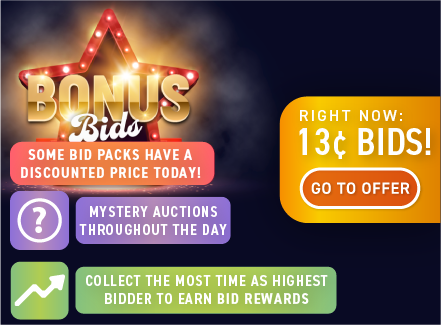 Bonus Bids Weekend: Buy bids for only 13 cents each!