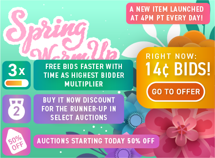 Spring Warm-Up!: Buy bids for only 14 cents each!