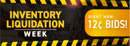 Inventory liquidation week: Buy bids for only 12 cents each!