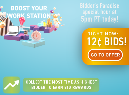 Boost your work station: Buy bids for only 12 cents each!