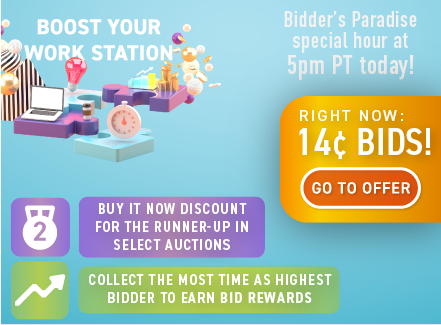 Boost your work station: Buy bids for only 14 cents each!