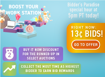 Boost your work station: Buy bids for only 13 cents each!
