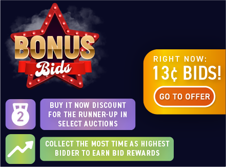 Bonus bids : Buy bids for only 12 cents each!