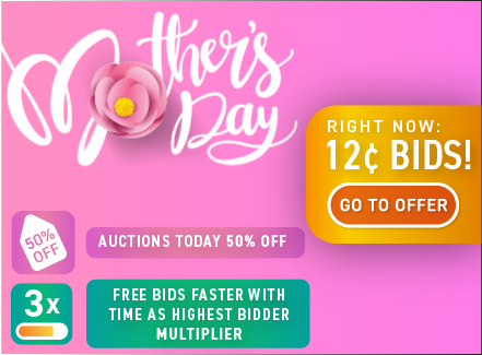 Happy Mother's day: Buy bids for only 12 cents each!