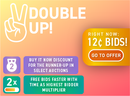 Double Up!: Buy bids for only 12 cents each!