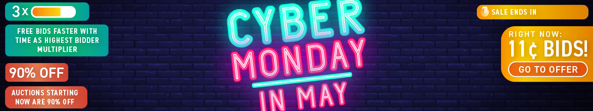 Cyber Monday in May: Buy bids for only 11 cents each!