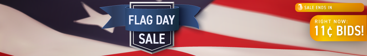 Flag Day: Bids now only 11 cents each!