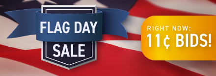Flag Day: Buy bids for only 11 cents each!