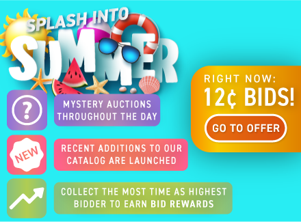 Splash Into Summer: Buy bids for only 12 cents each!