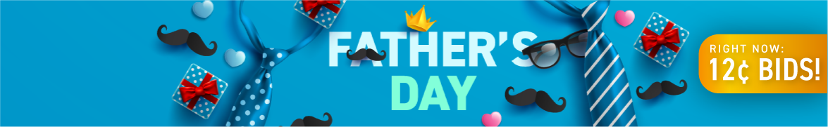 Father's Day: Bids now only 12 cents each!