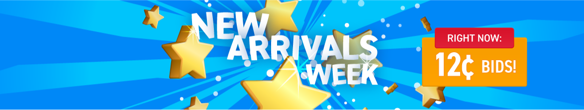 New Arrivals week: Bids now only 12 cents each!