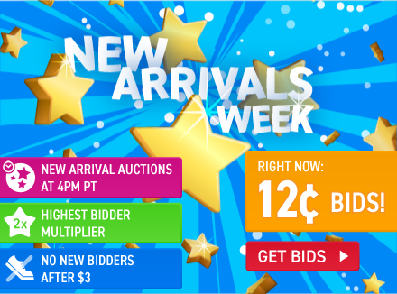 New Arrivals week: Buy bids for only 12 cents each!